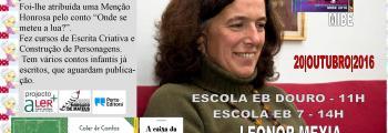 Leonor Mexia visita alunos